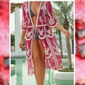 🌺Tropical Punch Boho Coverup/5 🌟 rated